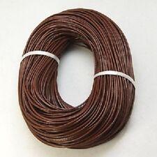 Cordon de cuir 2mm MARRON - 3 Mètres 3m de Fil lacet - Création de bijoux