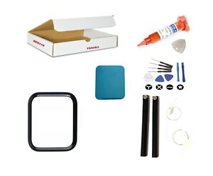 Screen Repair Kit Fit Apple Watch SE 44mm - Front Glass Lens Replacement