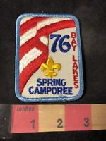 Vtg 1976 BAY LAKES SPRING CAMPOREE 76 Bicentennial Boy Scout Patch 92C8