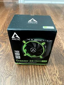 Arctic Cooling Freezer 33 eSport ONE GREEN CPU Cooler Heatsink FAN Intel AM4