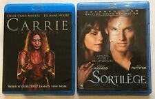 LOT 2 BLU RAY - CARRIE La Vengeance ( CLOÉ GRACE MORETZ,MOORE) + SORTILÈGE