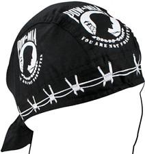 Zan 100% Cotton Lightweight POW*MIA Headwrap / Do-Rag / Skull Cap