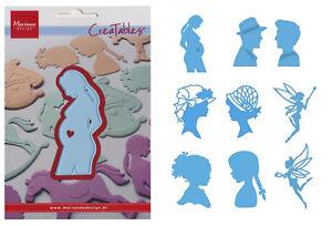 Präge- Stanzschablone Silhouetten Scherenschnitt Marianne Design Creatables