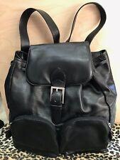 BOTTEGA VENETA Vintage Black Leather Backpack
