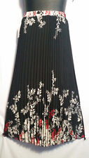 Women Clothing Long Skirt Elastic High Waist Pleated Black Red White Free Size