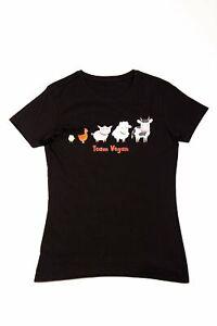 'Team Vegan' (Female) T-Shirt - Organic Sustainable Clothing Gift