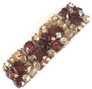 Bracelet Elasticated Art Deco Style Chunky Acrylic Gemstone In Quality Gift Box