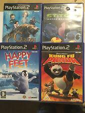 4 PLAYSTATION 2 PS2 KID GAMES KUNG FU PANDA HAPPY FEET GOLDEN COMPASS STITCH 626