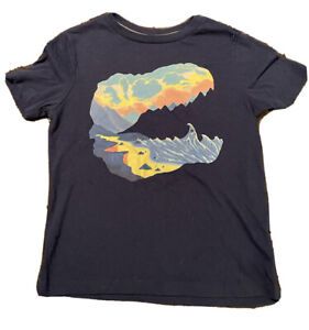 Boy's Blue Dinosaur Fossil T-Shirt From Old Navy, Size S (6/7) - Pre-Owned