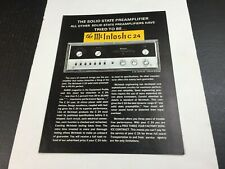 New Listingvtg Mcintosh C24 Solid State Preamplifier Stereo Dealer Specifications Sheet Ad