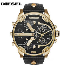 New Diesel DZ7371 Mr. Daddy 2.0 Gold-tone Black Dial Stainless Steel Men's Watch