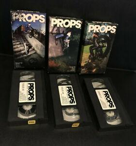 PROPS - LOT X3 ISSUES 42/43/47 - BMX - VIDEO CASSETTE TAPE / VHS PAL 2002 / 2003