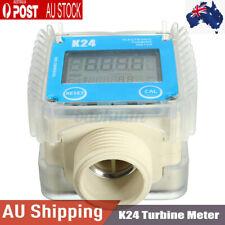 K24 LCD Turbine Digital Diesel Fuel Flow Meter for Water Sea Chemicals Adjust AU