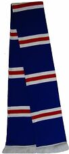Rangers style Royal Blue, Red, and White Retro Bar Scarf - Made in the UK