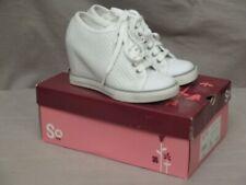 SO Hidden Wedge Heel High Top Canvas Sneakers Women Lace Up Athletic BNIB