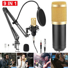More details for usb condenser microphone live streaming studio recording gaming kit mic mount p