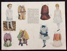 Antique McLoughlin Paper Dolls, 1958 Jack & Jill Mag