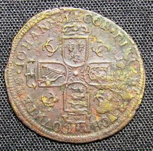 Unidentified Spanish Colonial Johanna Medieval Coin - 19mm & 0.8 grams