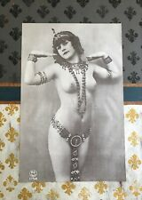 """Vintage Nude 1971 Poster 22"""" x 34""""  """"CHASTITY""""  Egyptian Cleopatra Art Deco"""