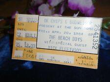 Vintage Beach Boys Mick Fleetwood Concert Ticket Stub April 20 1984 Florida