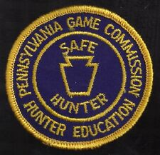 """Pa Pennsylvania Game Commission NEW 1970s 3"""" Safe Hunter Hunter Education Patch"""