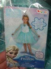 Girls Disney Frozen Elsa Prestige Tutu Costume Dress Up Halloween SZ S 4-6X NEW!