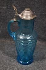 Batidora, saftkrug, azul, con tapa estaño