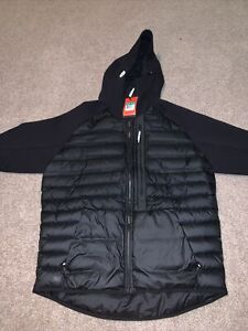 NIKE TECH FLEECE AEROLOFT HYBRID HOODED JACKET BLACK 678261 010 SZ XL $350