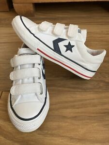 Converse All Star White Unisex Trainers Size UK 12 Kids.