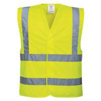 Portwest C470 Hi-Vis Two Band & Brace Hi Vis Visibility Safety Vest Waistcoat
