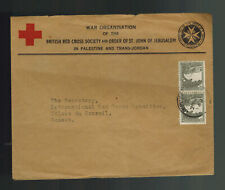 1944 Jerusalem Palestine cover to Red Cross Geneva Switzerland UnCensored