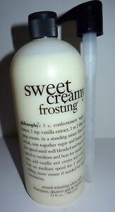 Philosophy Sweet Creamy Frosting Shampoo, Bubble Bath Shower Gel Extra Lg 32 oz