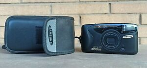 Samsung AF Slim Zoom 35 70 mm 35mm with CASE Film Camera TESTED and working