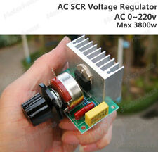 AC 0-220V 3800W SCR Voltage Regulator Speed Control Dimming Dimmers Thermostat