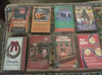 Lot of 8 Christmas Cassettes-Various Artists Country, instrumental  etc