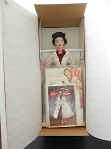 ASHTON DRAKE GENE IN CALENDAR GIRL: APRIL SHOWERS DOLL COCA-COLA SHIPPER COA NEW