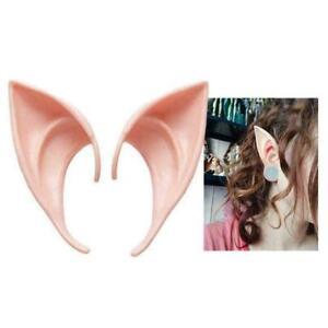 2pcs Angel Elf Ear Halloween Costume Props Cosplay False Pointed Short Ear Decor