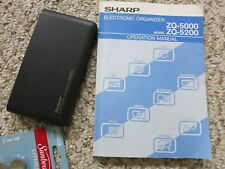 Vintage Sharp Eletronic Organizer 64kb ZQ-5200, w/ Manual/New Batteries- Japan