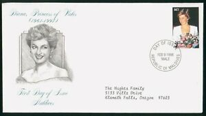 Mayfairstamps Maldives FDC 1998 Princess Diana Flowers First Day Cover wwo_50967