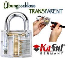 KaSul®Germany | Transparent Übungsschloss | Lockpicking | 2 Schlüssel | Akryl