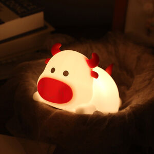 Silicone LED Touch Night Light Animal Lamp Recharging Gift for Children
