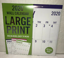 "2020 Wall Calendar Large Print 12""x12"" New Sealed"