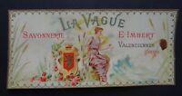 Etiquette SAVONNERIE LA VAGUE E. IMBERT Valenciennes Paris Soap Label French