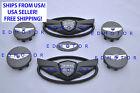 2011-2015 Fits Hyundai Genesis Coupe Matt Black Wing Emblemsteeringwheel Cap