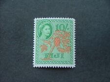 Fiji QEII 1954 10/- orange & emerald SG294 UM/MNH