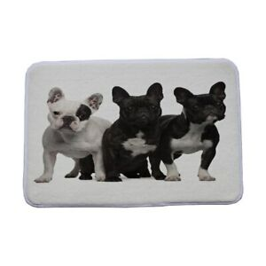 Doormat lovely Black French Bulldog Printed Kitchen Bathroom  Rugs
