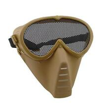 AirSoft Full Face Guard Mesh Mask Goggles Tan