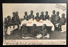 1907 Cape Of good Hope South Africa RPPC Postcard Cover to England a Tea Party