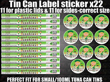 Girl Scout Cookies Cali pressitin tuna Tin Labels Stickers RX Medical