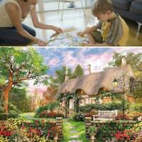 1000piece England Cottage Jigsaw Puzzle Puzzles For Adults AU Learning F4K9